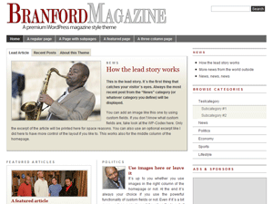 Branford Magazine Theme