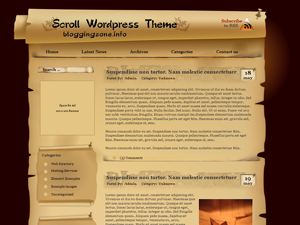 The Scroll Theme