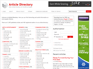 Article Directory Theme