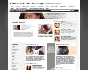 News Magazine Theme 640